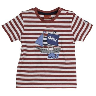 SALT AND PEPPER BABY - Jungen Piraten Captn Joey T-Shirt Red Melange gestreift