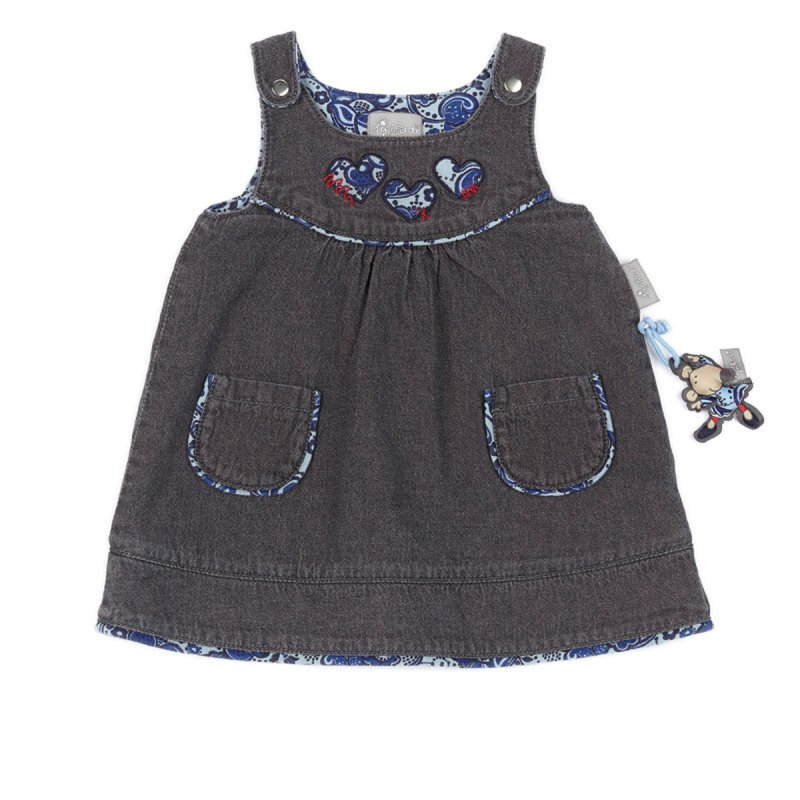 sigikid baby m dchen jeanskleid kleid aus der serie nordlan. Black Bedroom Furniture Sets. Home Design Ideas