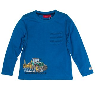 Salt and Pepper Jungen - Farmer Traktor Langarmshirt Farm Work Arctic Blue