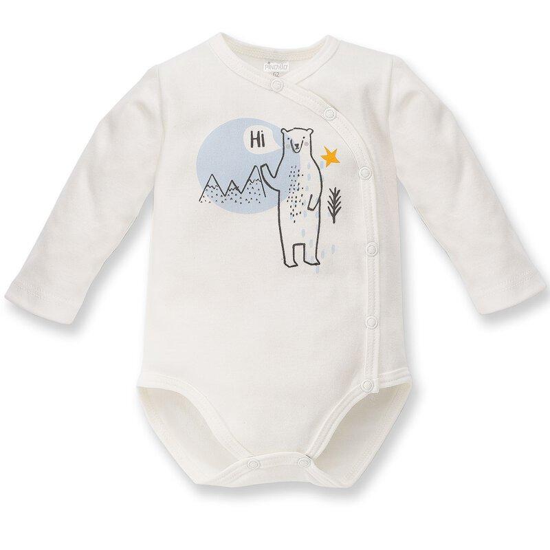 Pinokio Baby Jungen oder M/ädchen Schlafanzug einteilig Strampler aus der Serie North grau